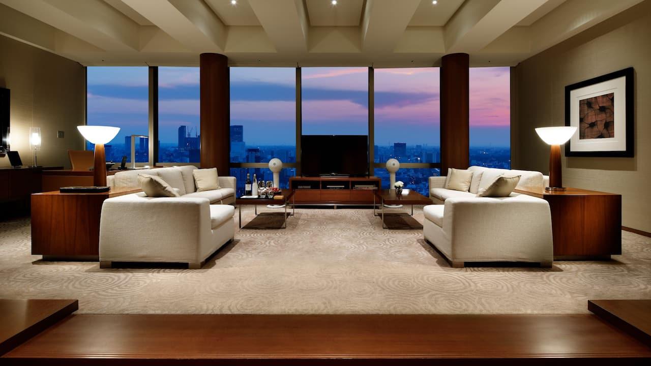 Grand Hyatt Tokyo Chairman Suite Living Room グランド ハイアット 東京 チェアマン スイート リビングルーム