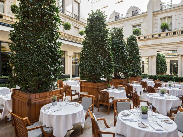 Terrace Sens and La Cheminee Restaurants at Hotel Park Hyatt Paris-Vendôme