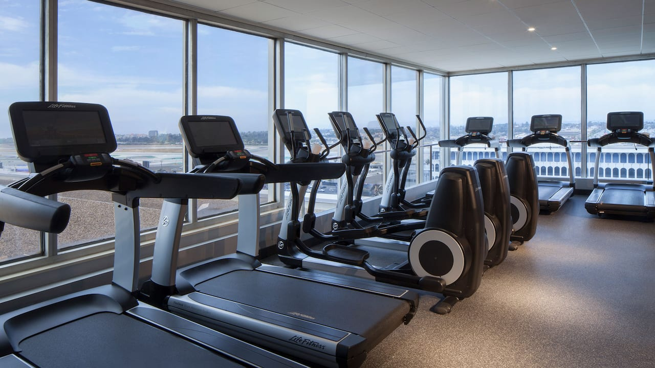 Fitness Center at Hyatt Regency Los Angeles International Airport