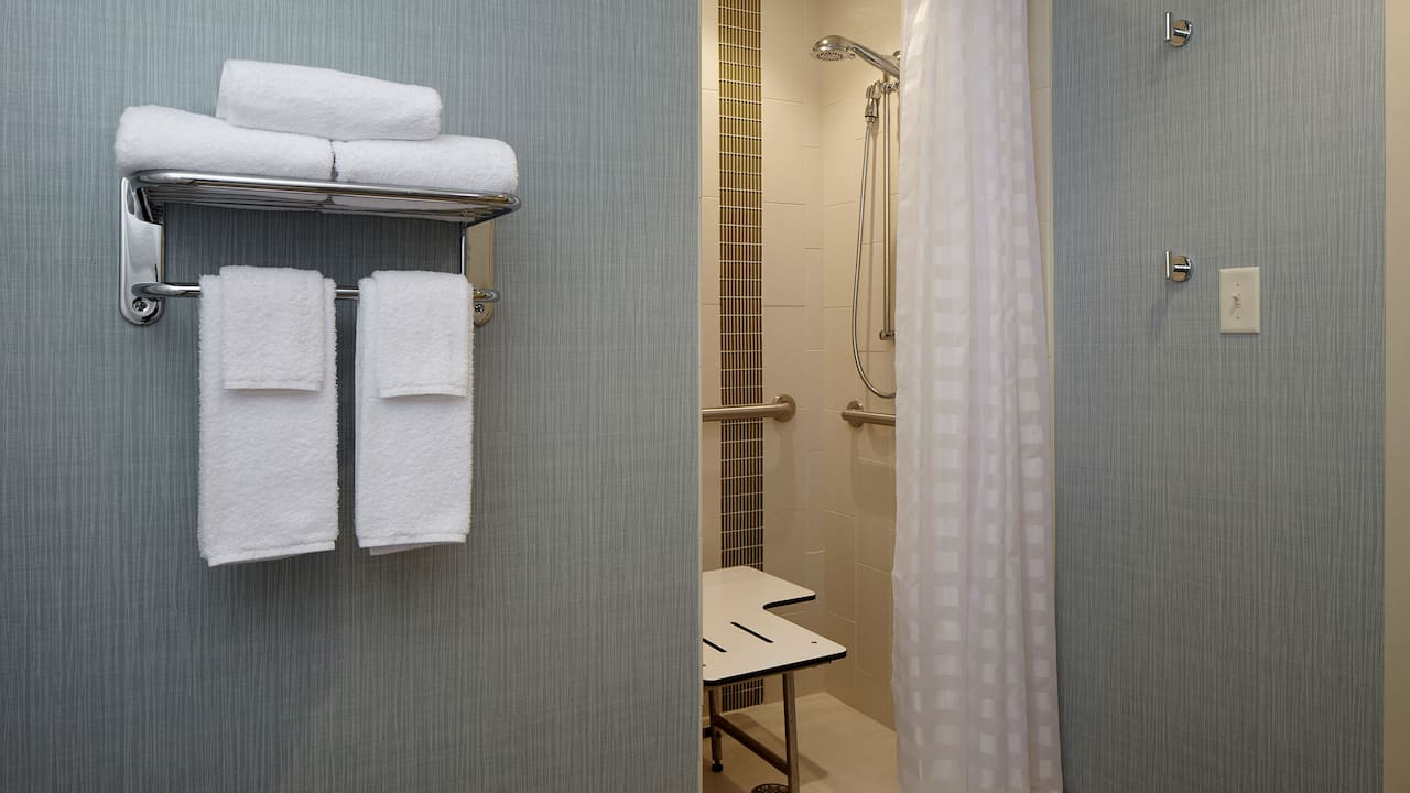 Mobility-Accessible Roll-in Shower - Hyatt Place Madison/Verona