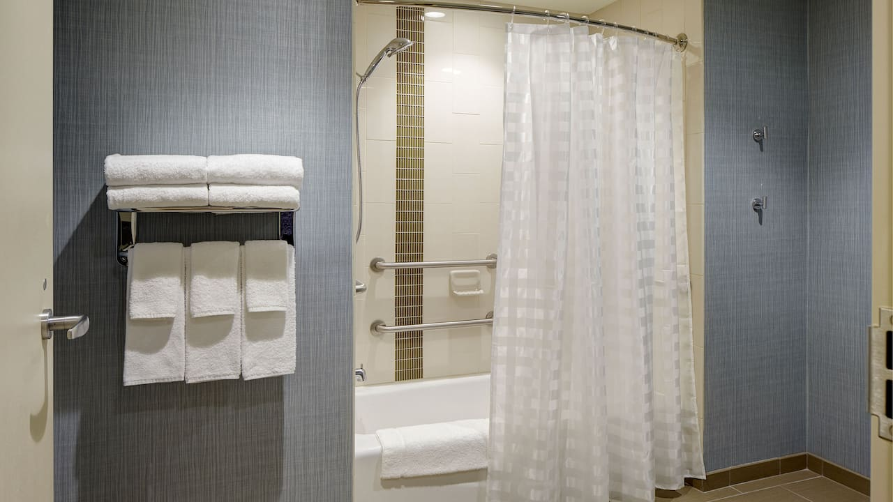 Mobility-Accessible Tub with Grab Bars - Hyatt Place Madison/Verona