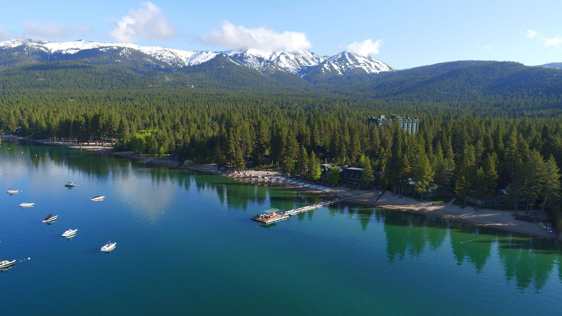 Lake Tahoe Aerial Beach