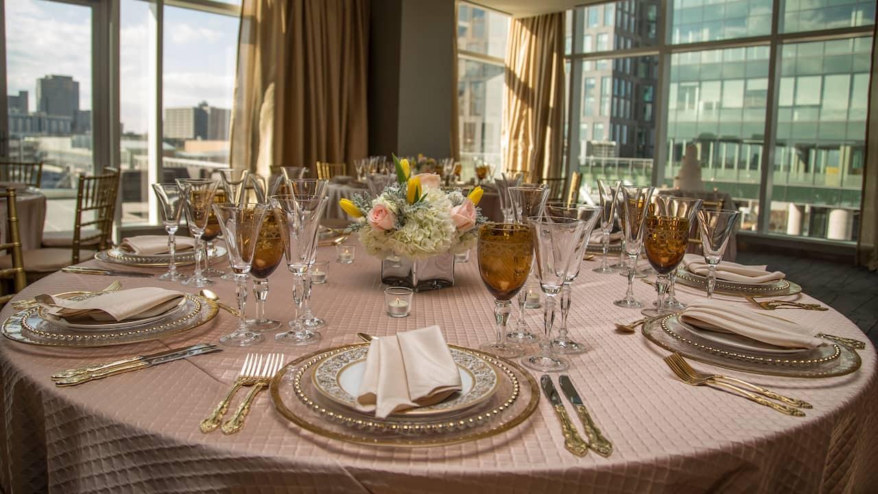 Table Set Wedding Hyatt Regency Tysons Corner Center