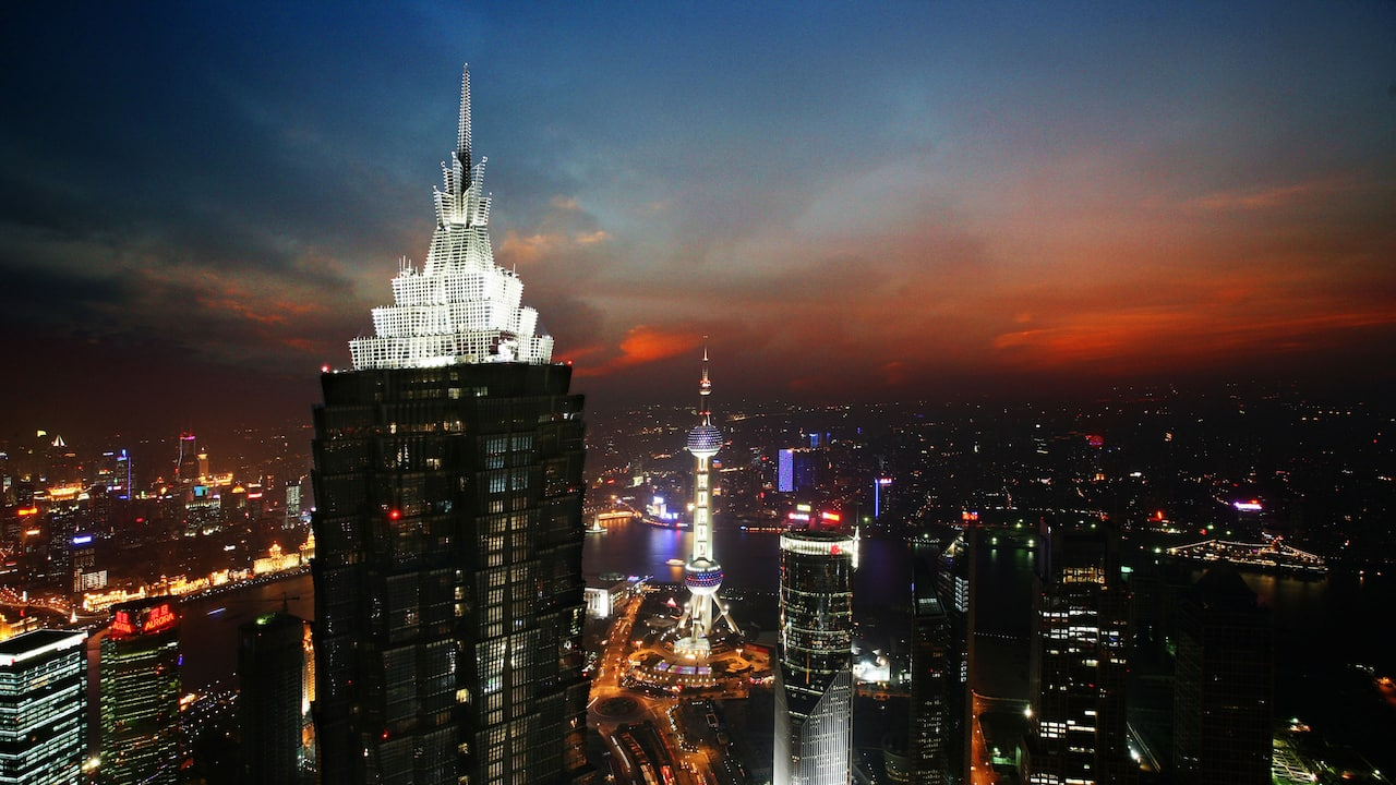 Night view from Park Hyatt Shanghai