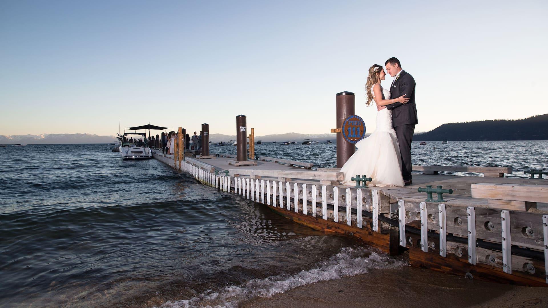 couple on pier Hyatt Regency Lake Tahoe Resort, Spa & Casino