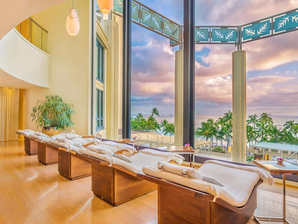 Hot stone massages at No Hoola Spa, Hyatt Regency Waikiki Beach Resort and Spa, HI