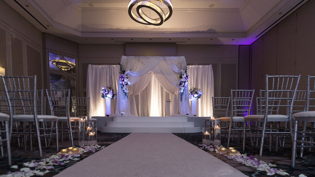Indoor Wedding Ceremony Grand Hyatt Atlanta