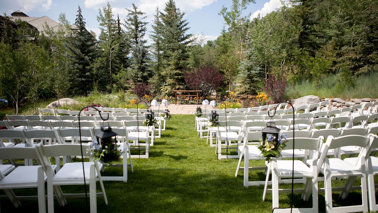 Park Hyatt Beaver Creek Outdoor Wedding