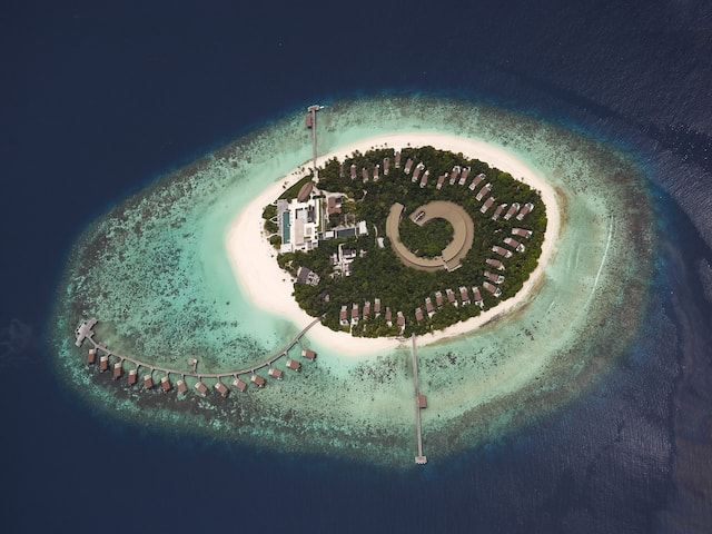 Maldives aerial exterior