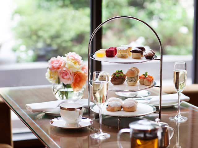 Park Hyatt Melbourne Tea set up
