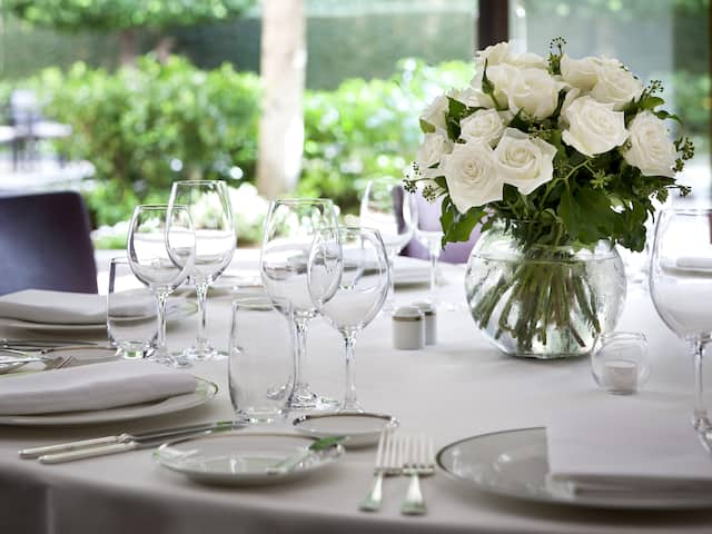 Park Hyatt Melbourne Wedding table setting