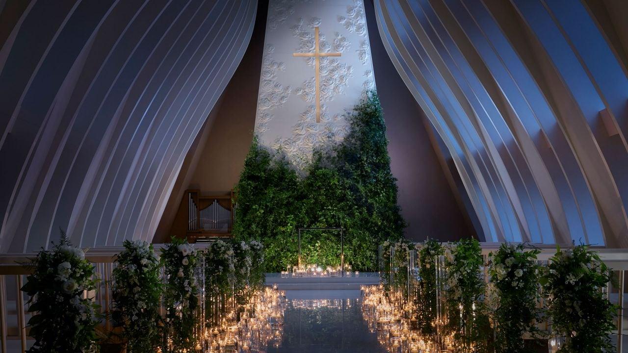 Wedding Chapel at night