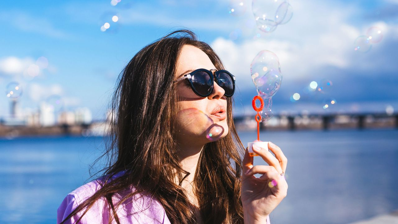 Woman Bubbles
