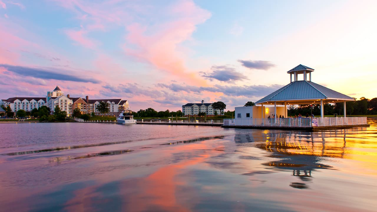 Hyatt Regency Chesapeake Bay Gold Resort Spa and Marina Choptank River Breakwater Pavilion Sunset