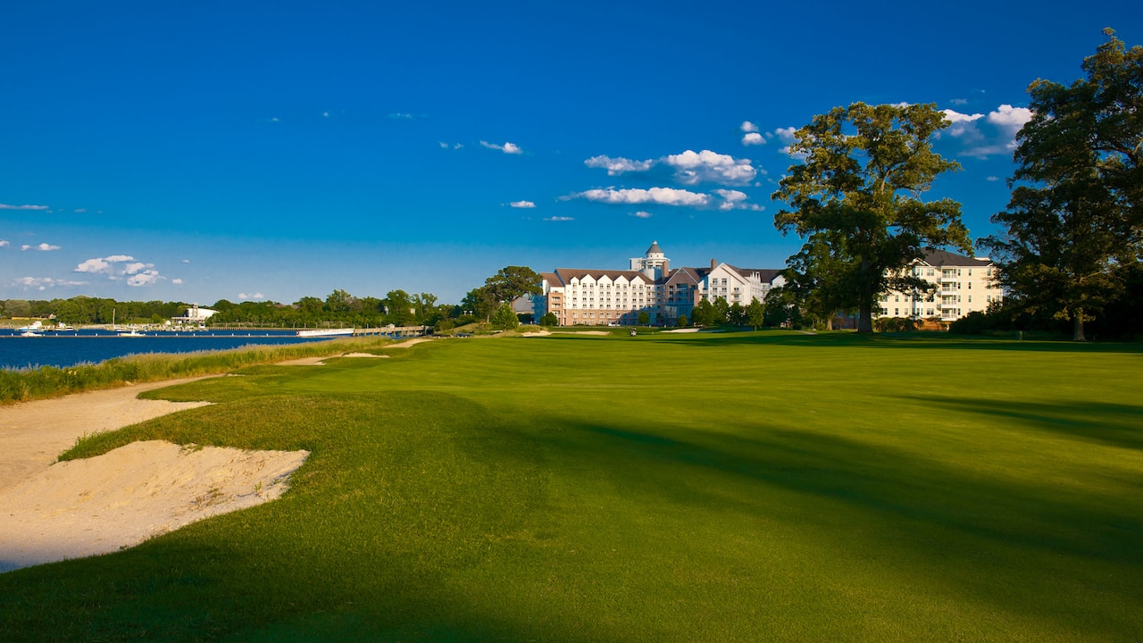 Hyatt Regency Chesapeake Bay Gold Resort Spa and Marina River Marsh Golf Final Hole