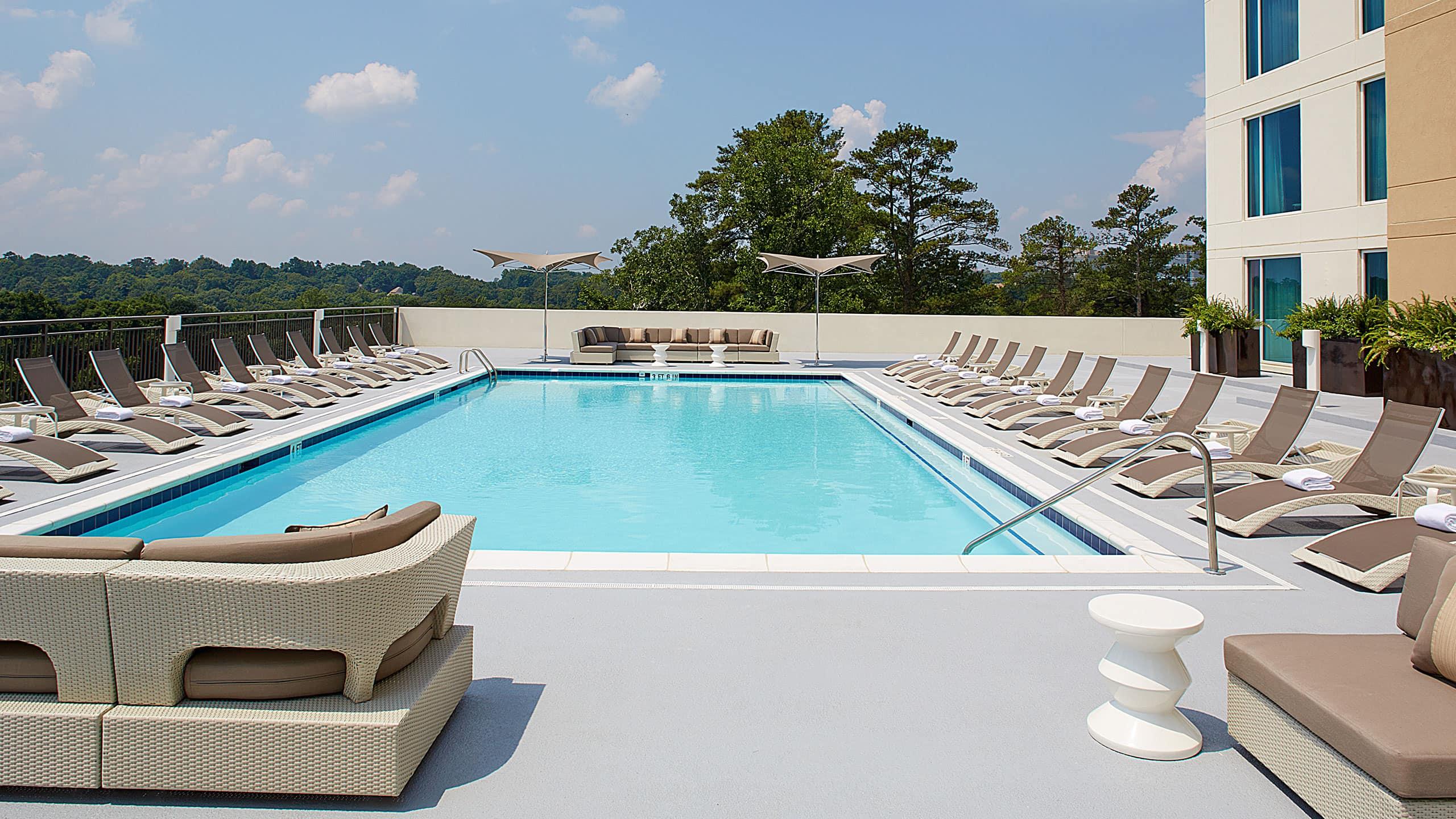 Pool Day Hyatt Regency Atlanta Perimeter At Villa Christina