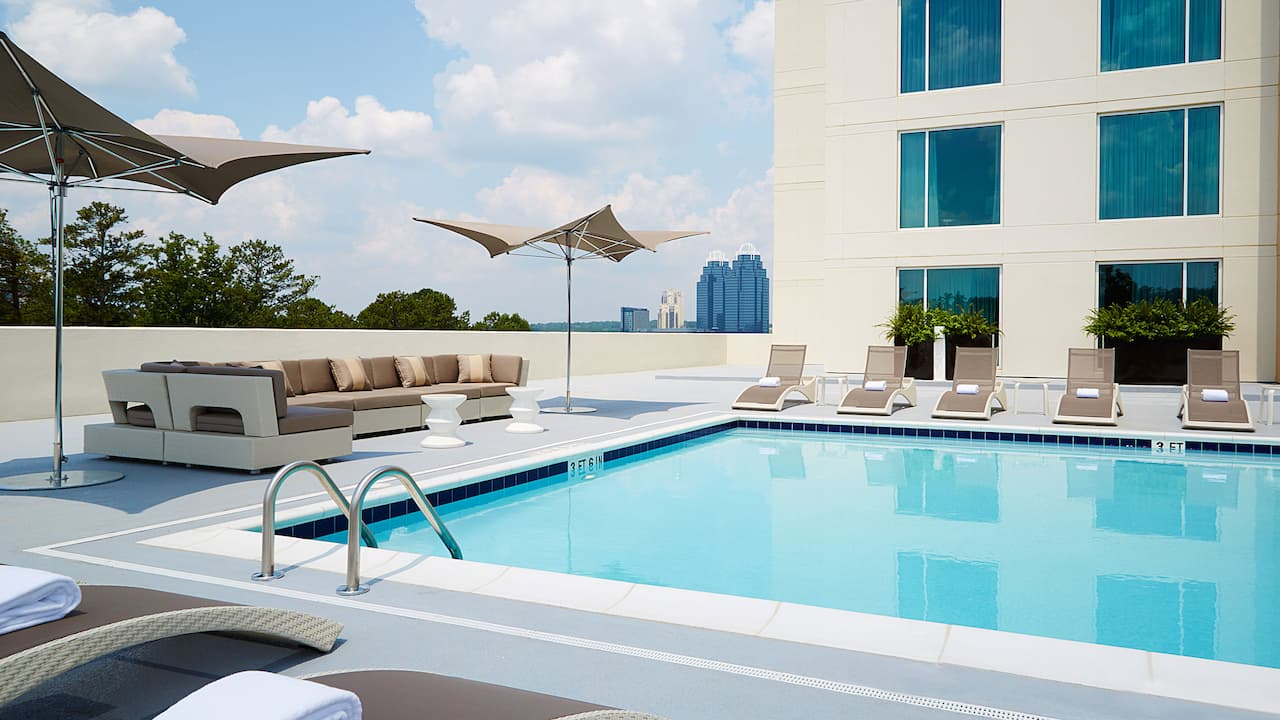 Pool Side Hyatt Regency Atlanta Perimeter at Villa Christina