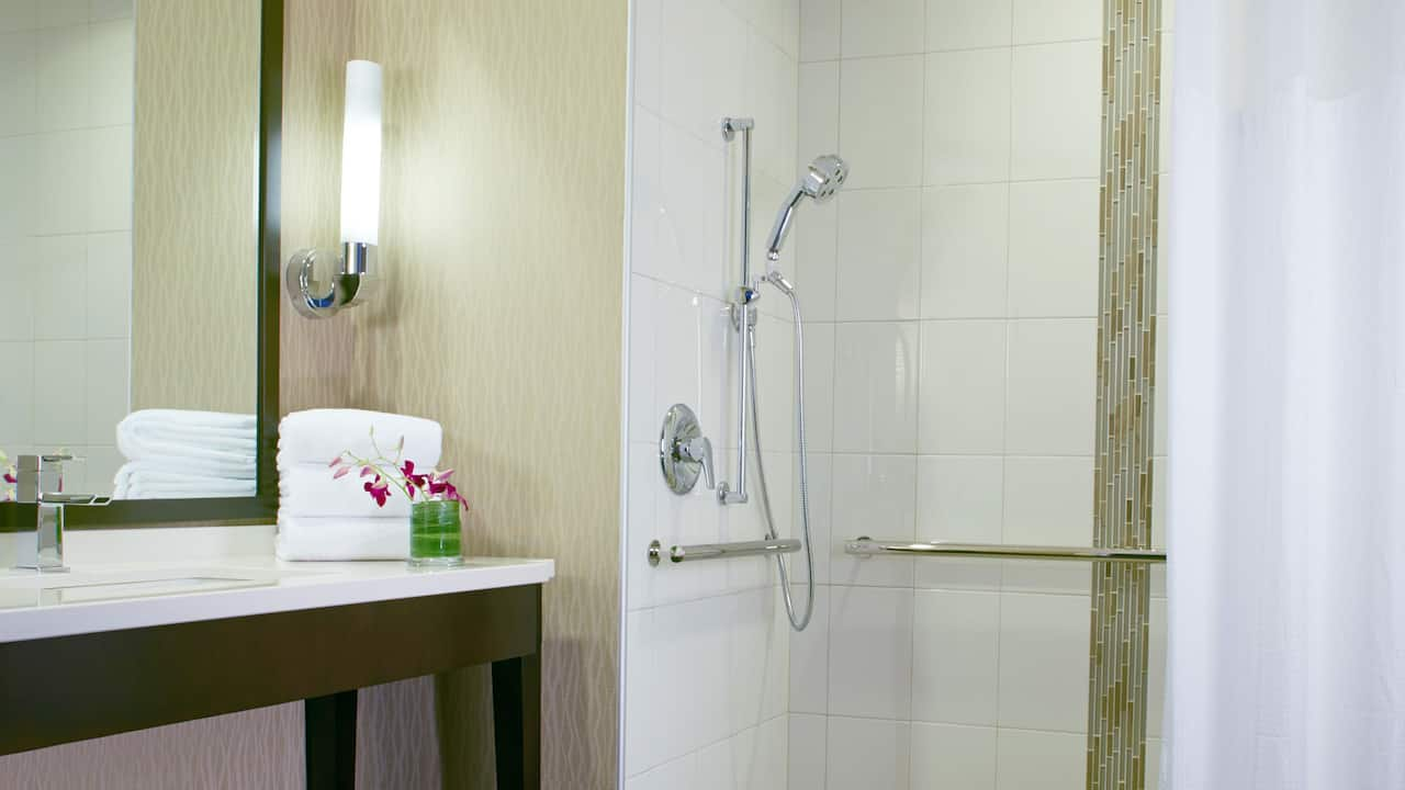 Accessible Queen Room with Shower Hyatt Regency Atlanta Perimeter at Villa Christina