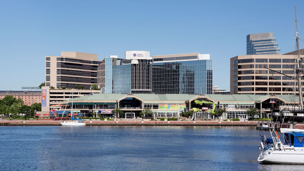 view of Inner Harbor and Hyatt Regency Baltimore Exterior