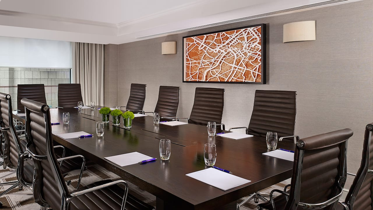 Boardroom meeting room at Hyatt Regency Birmingham