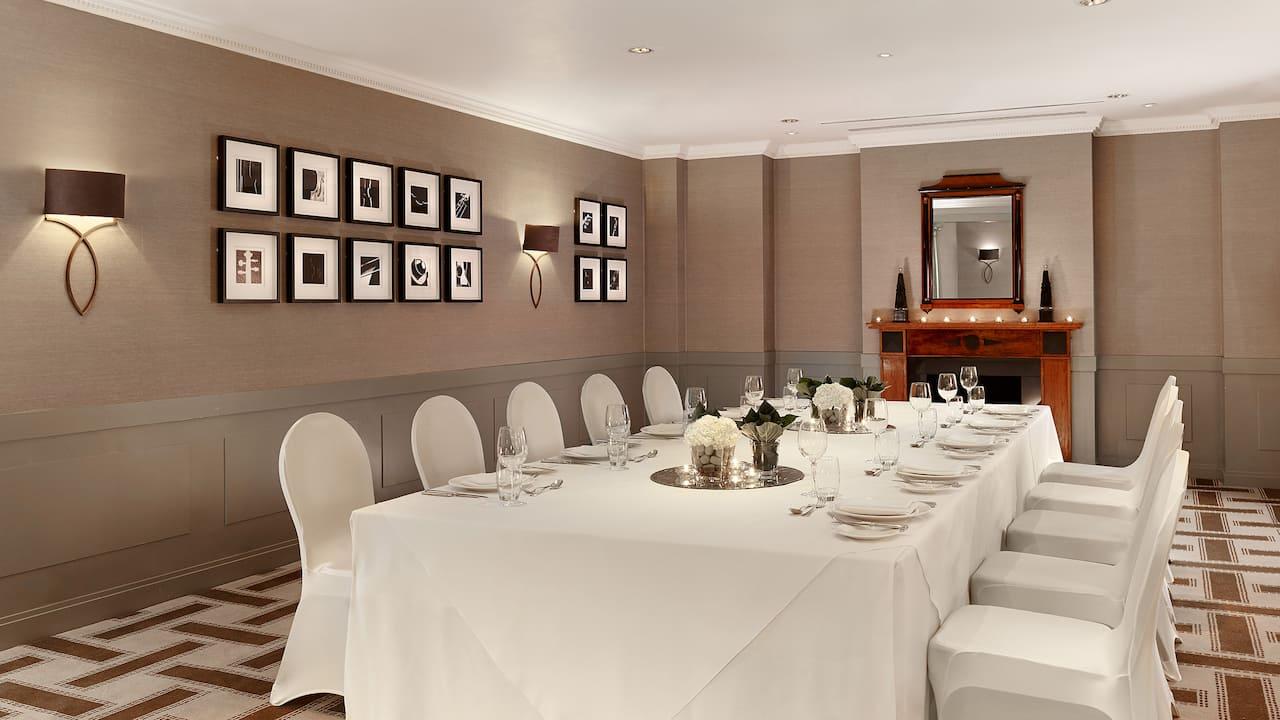 Private Dinner set up at Hyatt Regency Birmingham meeting room