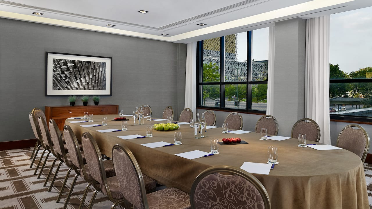 Dolce Room Boardroom layout at Hyatt Regency Birmingham