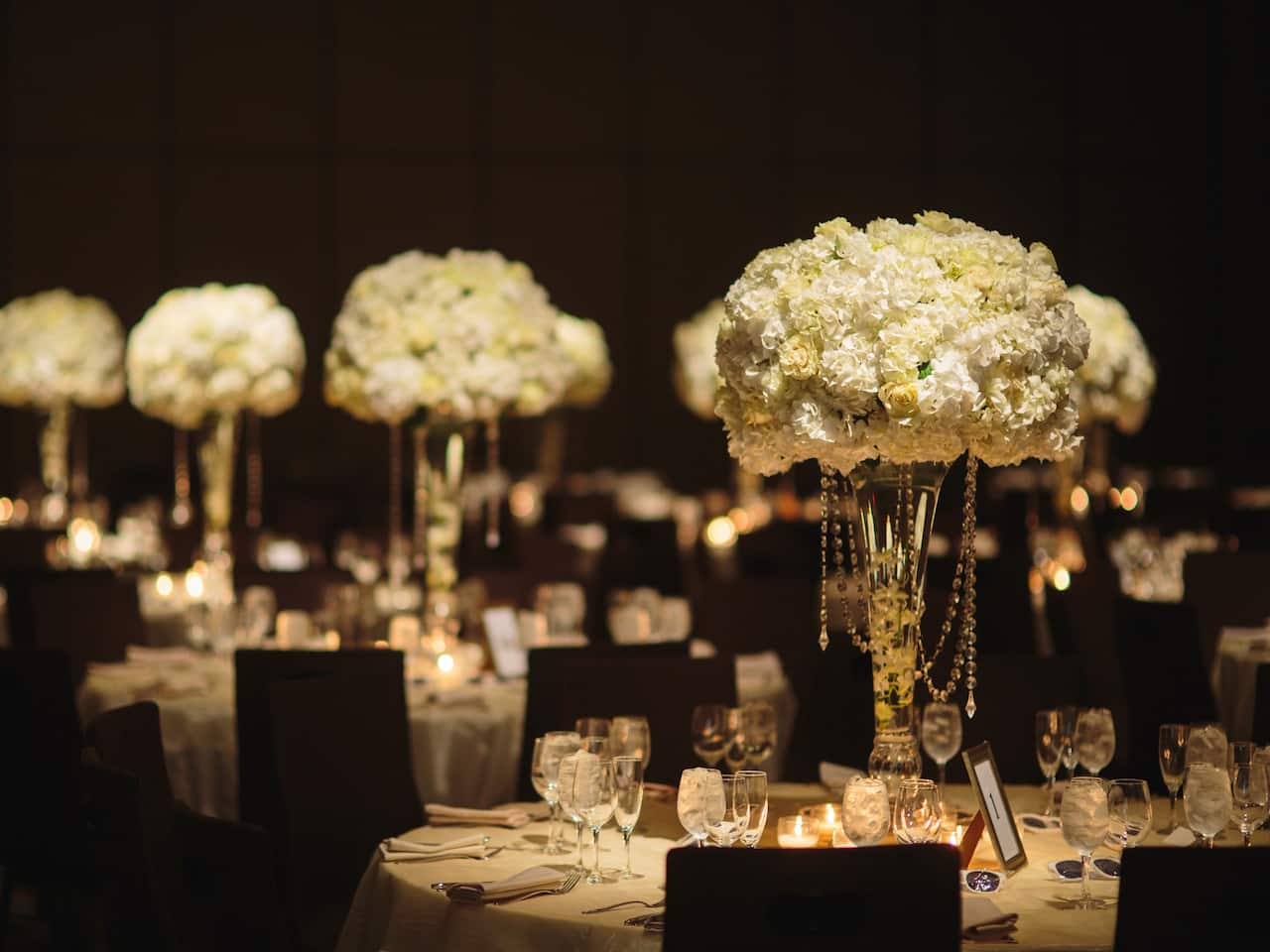 Grand Hyatt New York Wedding Floral Centerpieces