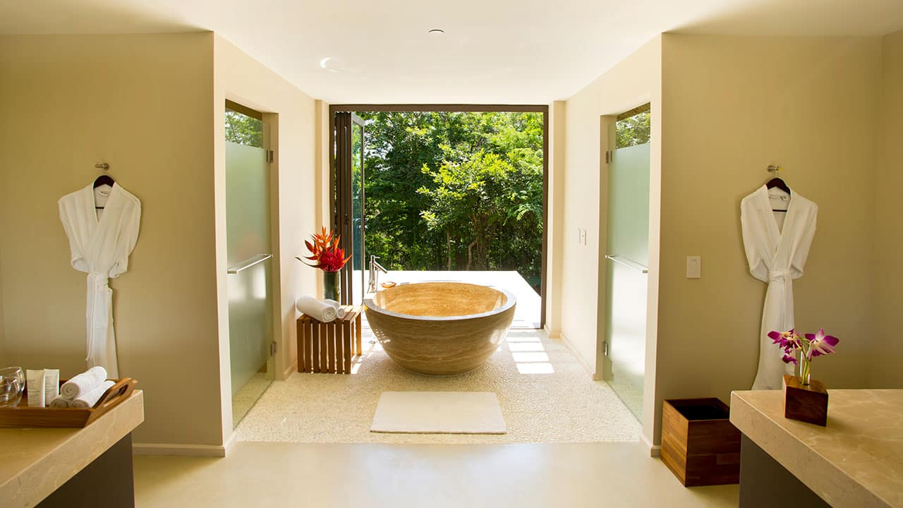 Expansive Costa Rica Resort Bathroom
