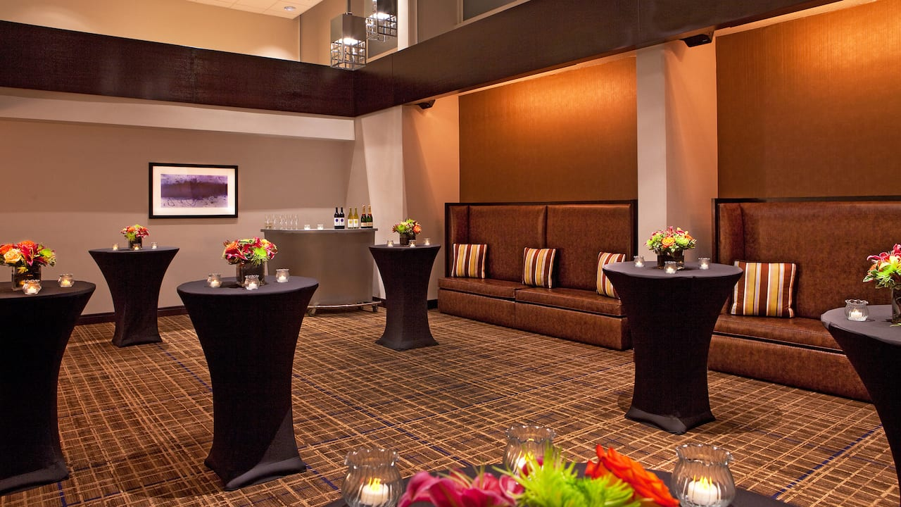 Open room for social gatherings at Hyatt Regency Cambridge