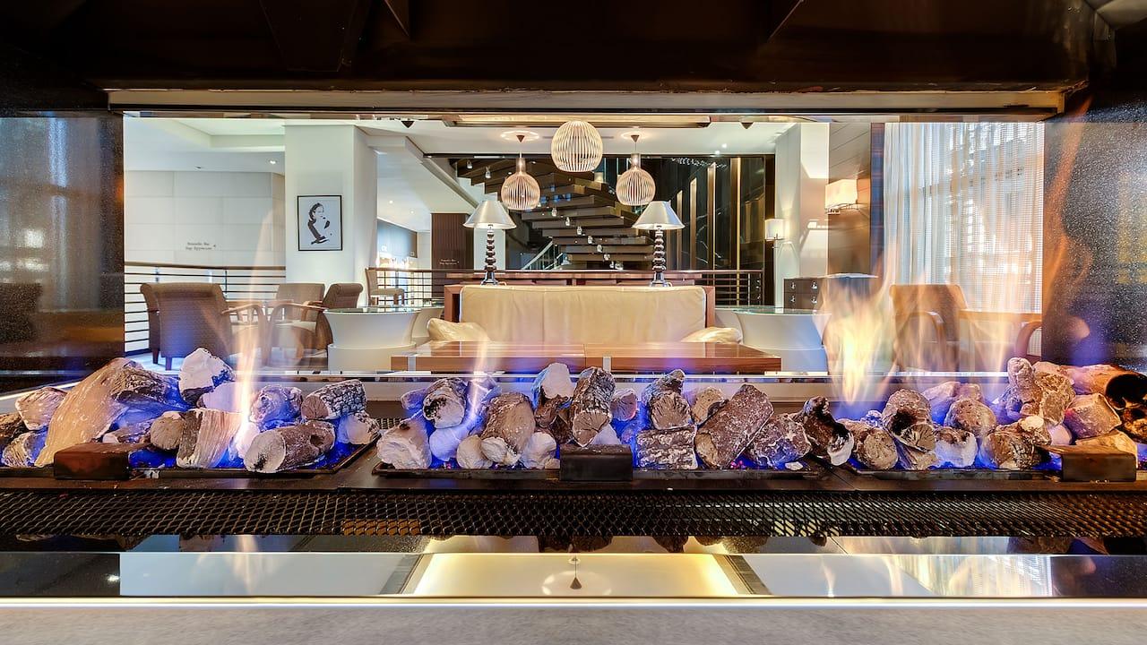 Lobby Lounge Chimney