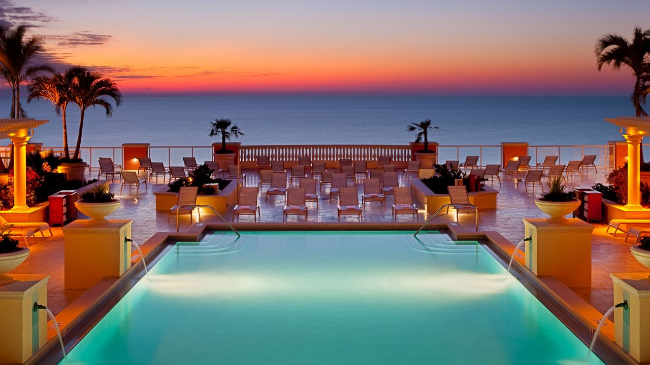 Florida Resort Pool with Ocean View at Hyatt Regency Clearwater Beach Resort