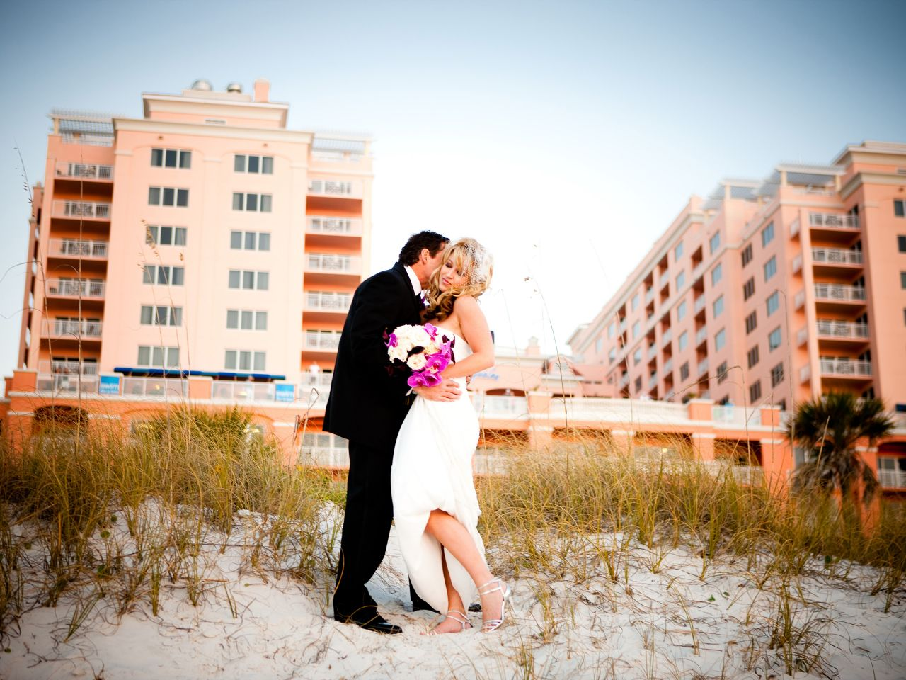 Clearwater Beach Destination Wedding Bride and Groom