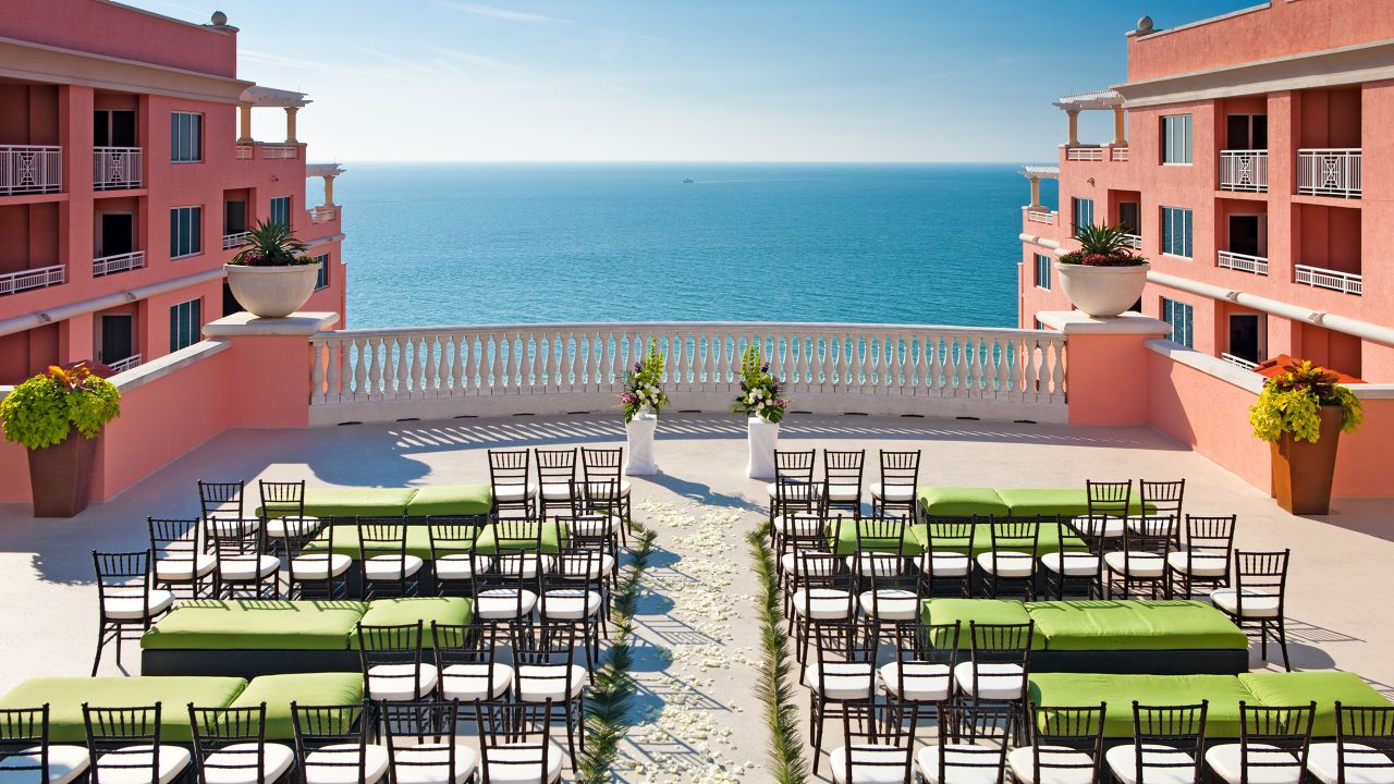 Clearwater Beach Outdoor Wedding Venue Gulf of Mexico View