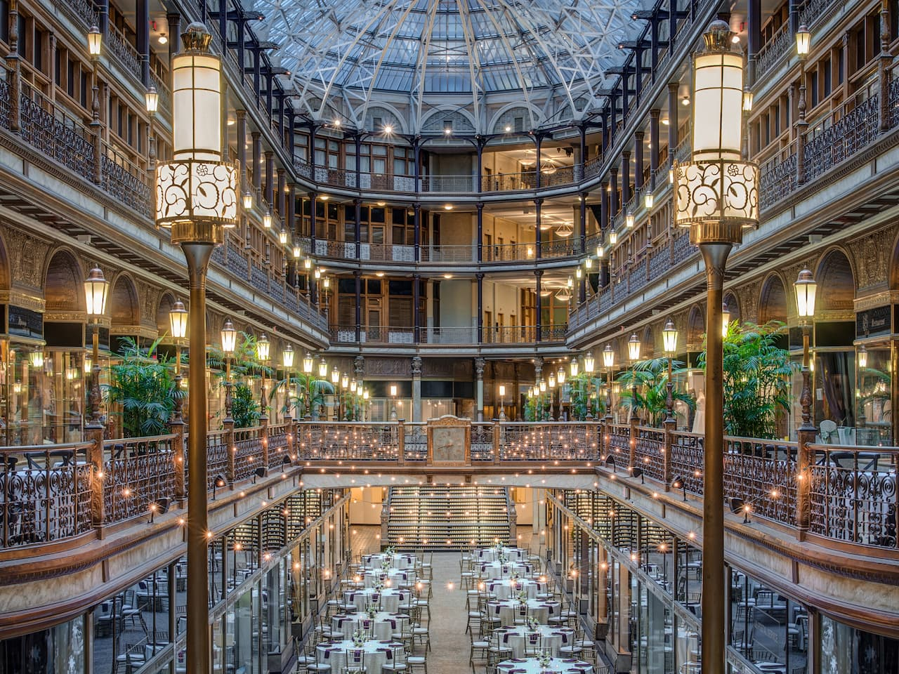 Wedding Venues in Cleveland, OH – The Arcade at Hyatt Regency Cleveland