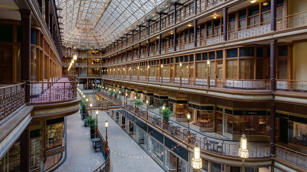 Hotel in Cleveland, OH – The Arcade at Hyatt Regency Cleveland