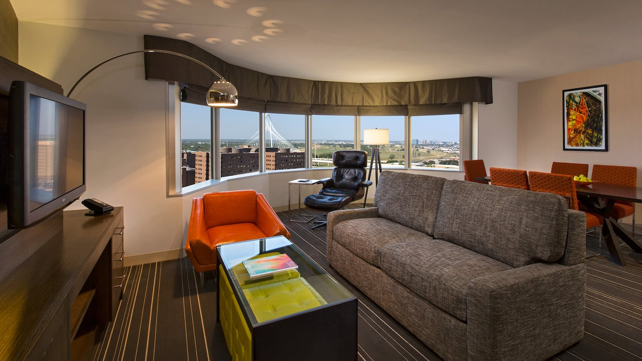 Sunset Suite Parlor Hyatt Regency Dallas