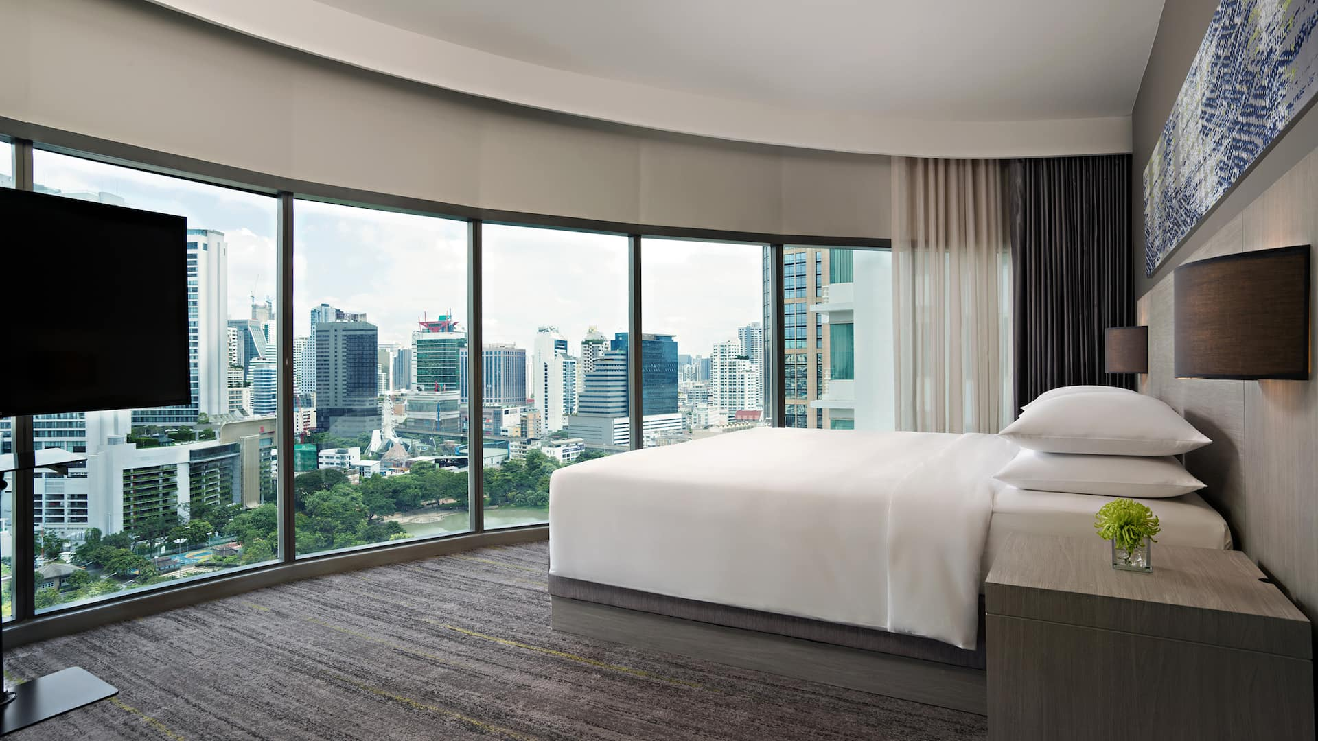 Hyatt Place Bangkok Bedroom