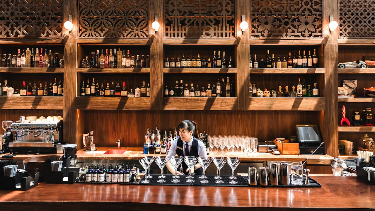 martini bar at mezza9 (Pouring Singapore's best martini line-ups​) Grand Hyatt