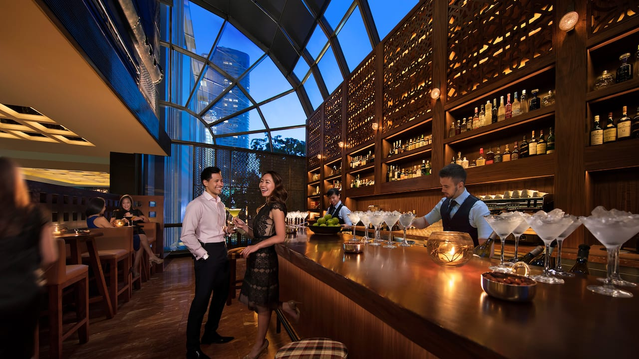 martini bar at mezza9 Grand Hyatt Singapore