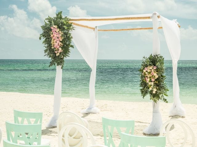 Andaz Mayakoba Resort Riviera Maya wedding beach set up