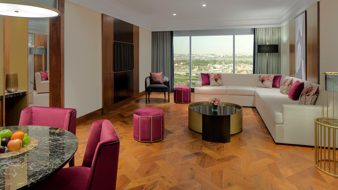 Grand Hyatt Dubai Ambassador Suite Living Room