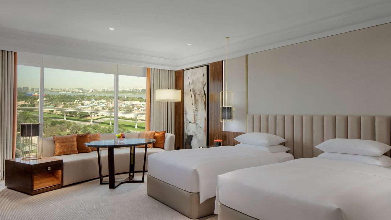 hyatt grand dubai 2 twin beds with creek view and club access