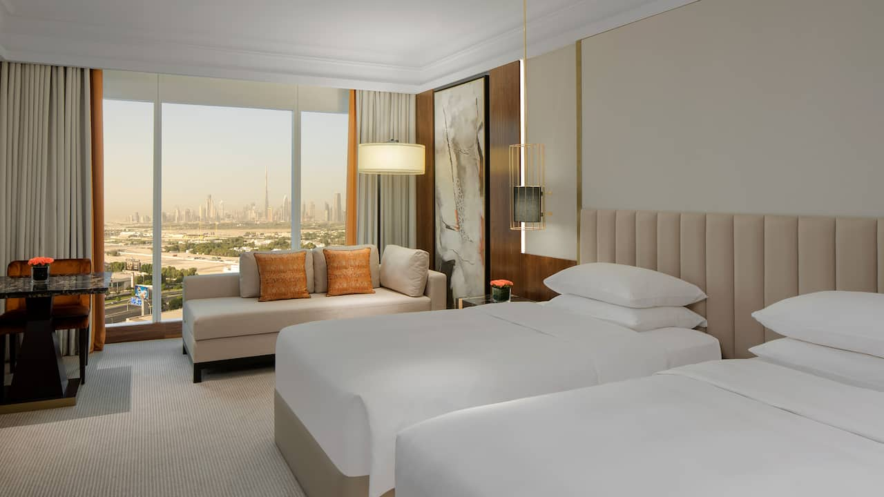 grand hyatt dubai 2 twin beds with club access