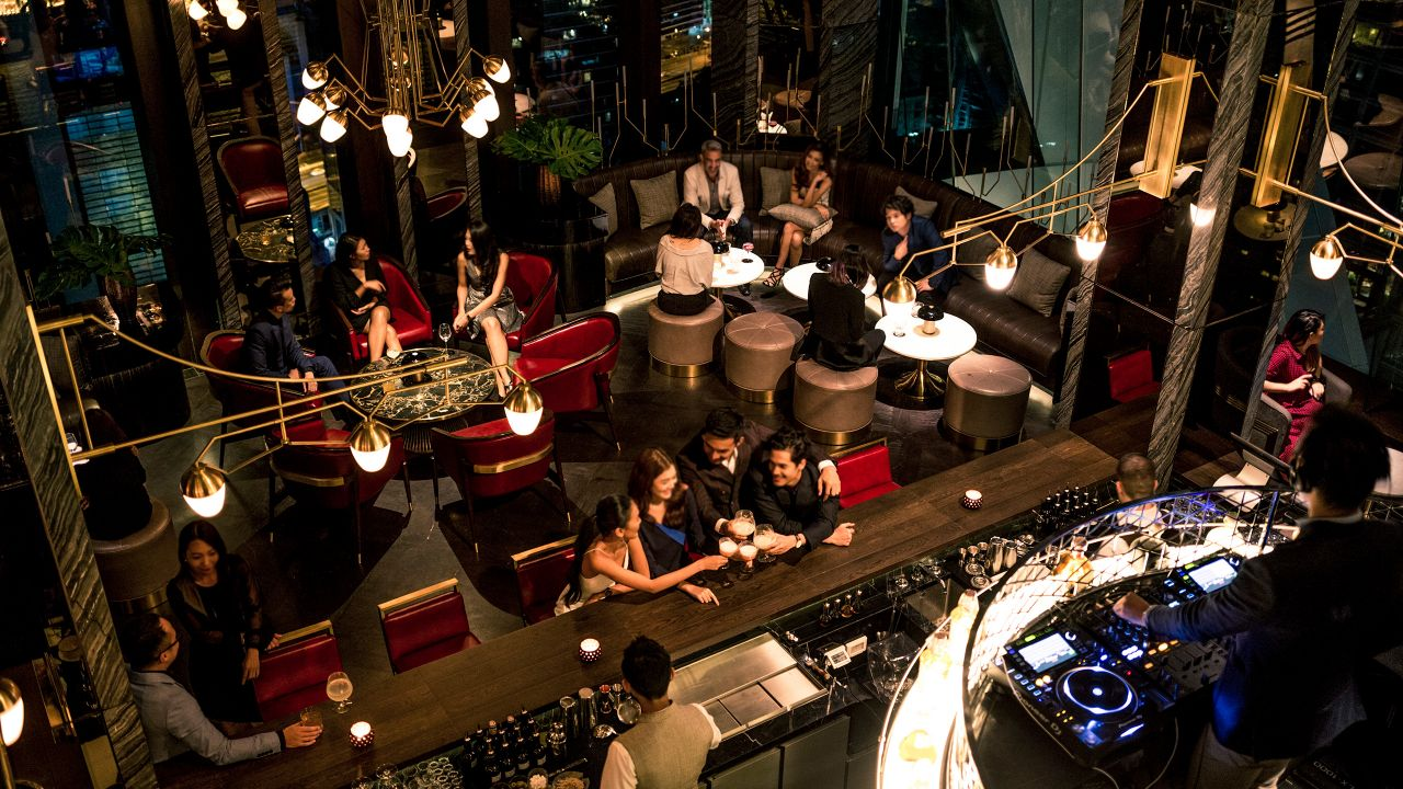 Penthouse Bar + Grill lounge table