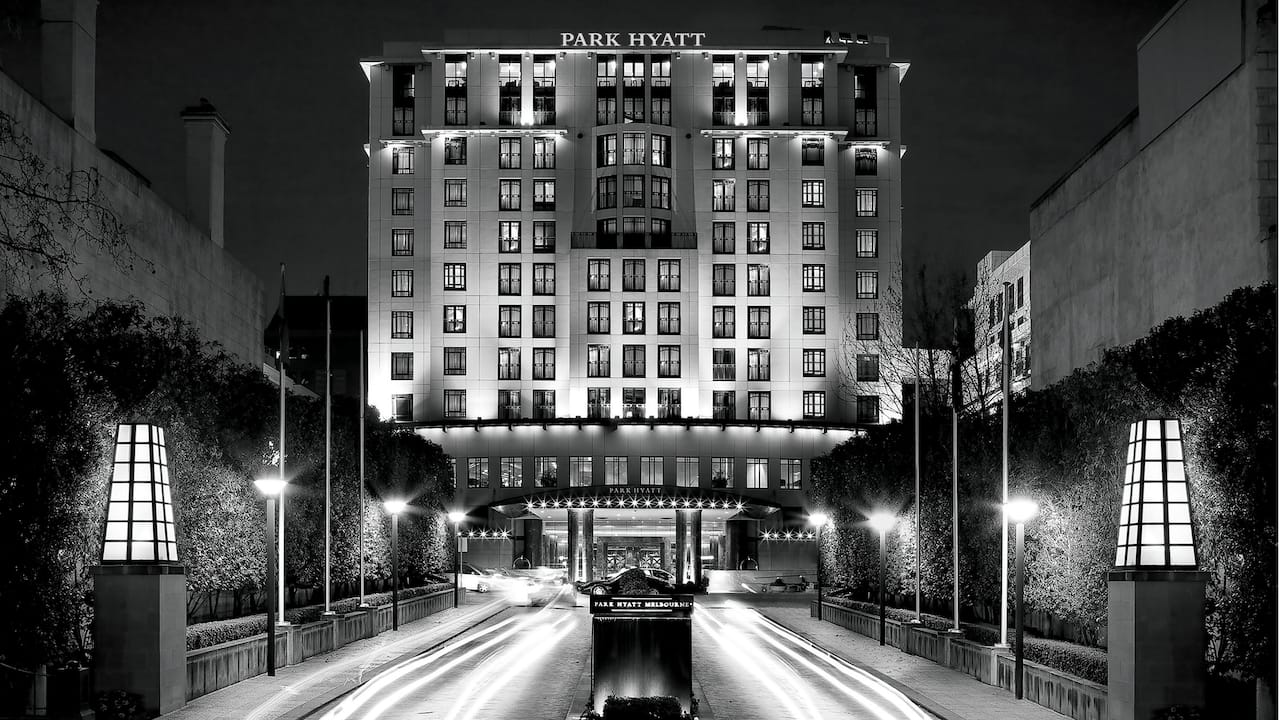 Park Hyatt Melbourne Facade by Night