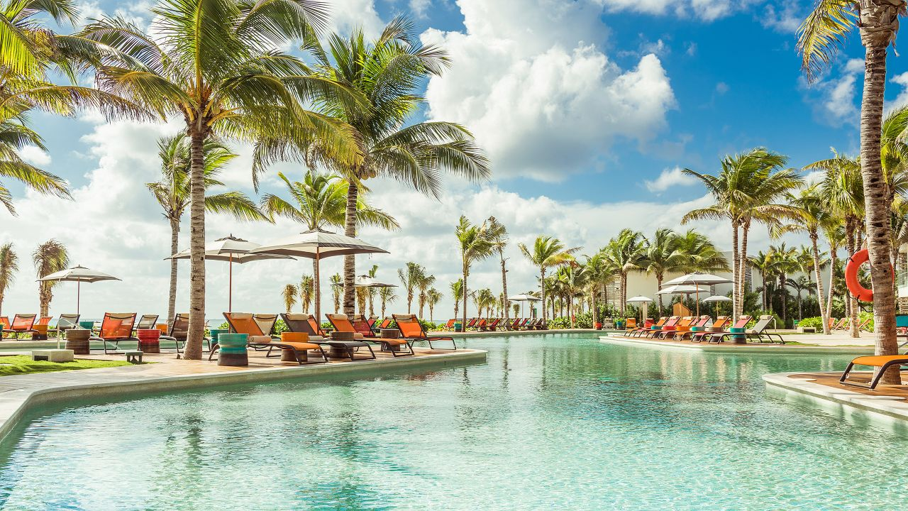 Andaz Mayakoba Resort Riviera Maya pool area