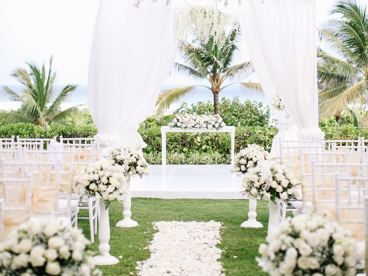 Beach Garden Set Up, Wedding Venues Bali
