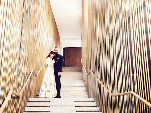 Andaz Delhi Couple on Stairs