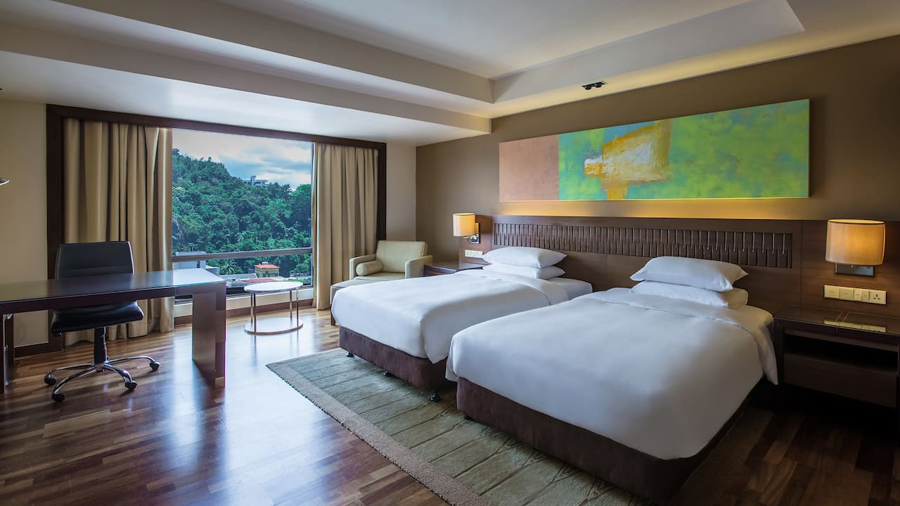 Hyatt Regency Kinabalu City View Room 2 Twin Beds with Exclusive Club Access