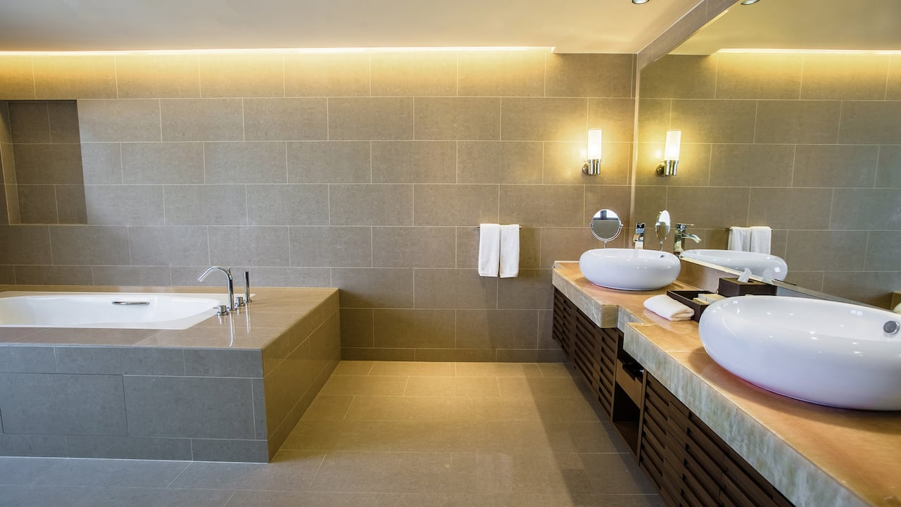 Hyatt Regency Kinabalu Executive Suite with Marble Bathroom Tub & Rainfall Shower